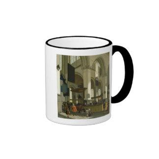 Interior of the Oude Kerk Ringer Coffee Mug