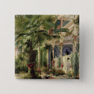 Interior of the Palm House at Potsdam, 1833 Pinback Button