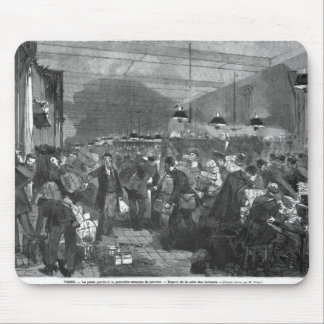 Interior of the Paris post office Mouse Pad