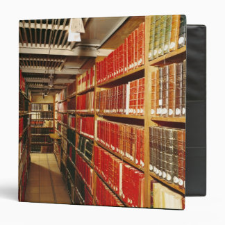 Interior of the printed material store 3 ring binder