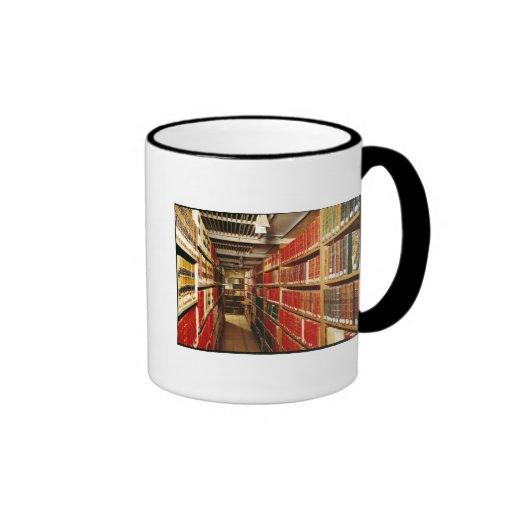Interior of the printed material store mugs