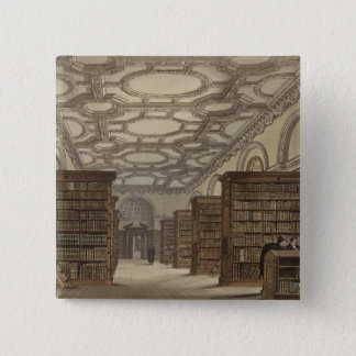 Interior of the Public Library, Cambridge, from 'T Pinback Button