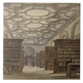 Interior of the Public Library, Cambridge, from 'T Tile