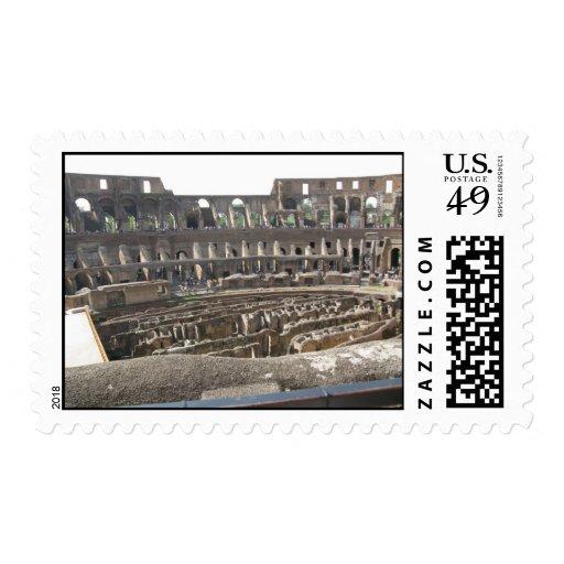 Interior of the Roman Colosseum Stamp