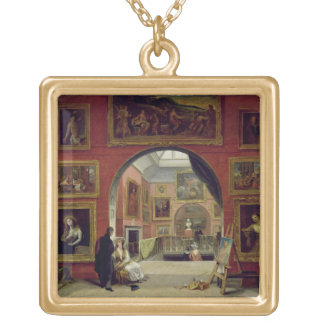 Interior of the Royal Institution, during the Old Square Pendant Necklace