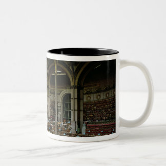 Interior of the 'Salle des Imprimes', 1868 Two-Tone Coffee Mug