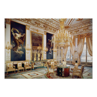 Interior of the Salon des Quatre Saisons Poster