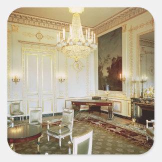 Interior of the Salon Vert Square Sticker