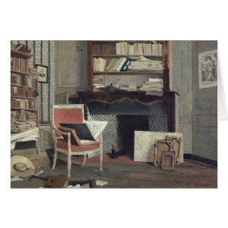 Interior of the Study of Doctor X Greeting Card