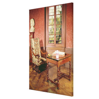 Interior of the study of Honore de Balzac Canvas Print