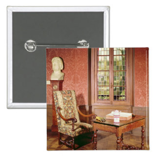 Interior of the study of Honore de Balzac Pinback Button