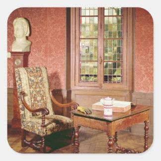 Interior of the study of Honore de Balzac Square Sticker