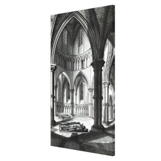 Interior of the Temple Church Canvas Print