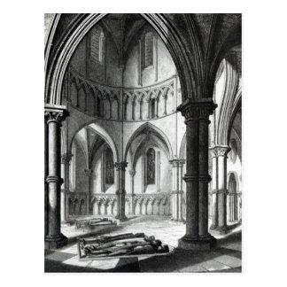 Interior of the Temple Church Postcard