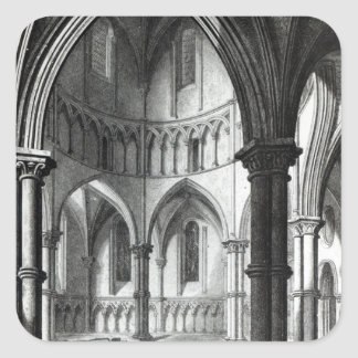 Interior of the Temple Church Stickers