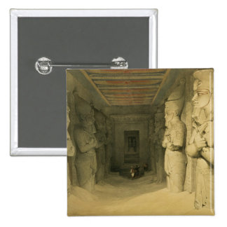 Interior of the Temple of Abu Simbel from Egypt Pinback Buttons