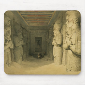 """Interior of the Temple of Abu Simbel, from """"Egypt Mouse Pad"""