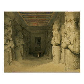 """Interior of the Temple of Abu Simbel, from """"Egypt Poster"""