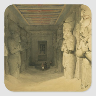 """Interior of the Temple of Abu Simbel, from """"Egypt Square Sticker"""