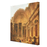 Interior of the Temple of Diana at Nimes, 1787 Canvas Print