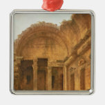 Interior of the Temple of Diana at Nimes, 1787 Metal Ornament