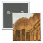 Interior of the Temple of Diana at Nimes, 1787 Pinback Button