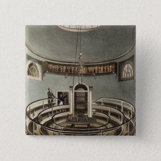 Interior of the Theatre of Anatomy, Cambridge, fro Pinback Button