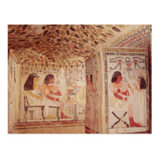 Interior of the Tomb of Sennefer, New Kingdom Postcard