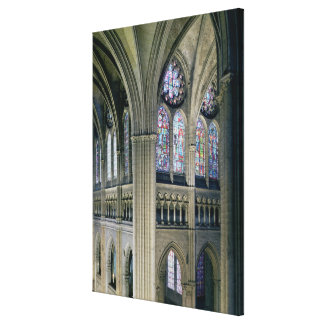 Interior of the transept crossing, consecrated 121 canvas print