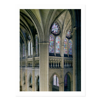 Interior of the transept crossing, consecrated 121 postcard