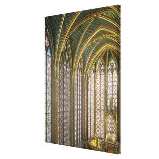 Interior of the upper chapel looking east, begun 1 canvas print