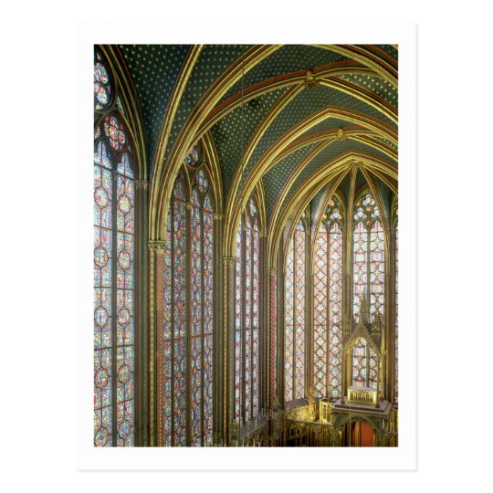 Interior of the upper chapel looking east, begun 1 postcard