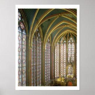 Interior of the upper chapel looking east, begun 1 poster