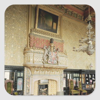 Interior of the Venetian Drawing Room Square Sticker