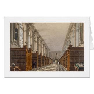Interior of Trinity College Library, Cambridge, fr Card