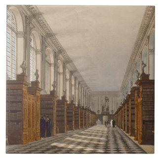 Interior of Trinity College Library, Cambridge, fr Large Square Tile
