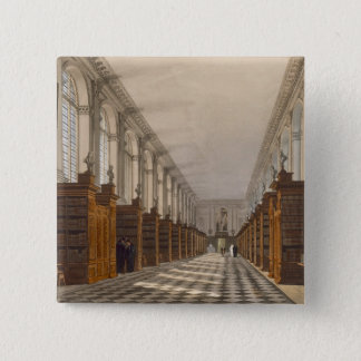 Interior of Trinity College Library, Cambridge, fr Pinback Button