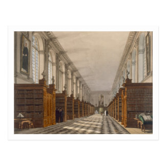 Interior of Trinity College Library, Cambridge, fr Postcard