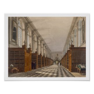 Interior of Trinity College Library, Cambridge, fr Poster