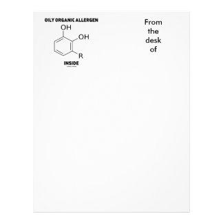 Interior orgánico aceitoso del alergénico (molécul membrete a diseño