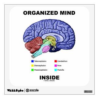 Interior organizado de la mente (actitud anatómica vinilo