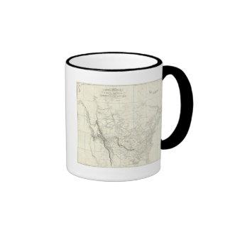 Interior Parts of North America Coffee Mugs