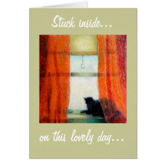 Interior pegado…, en este día precioso… tarjeta pequeña