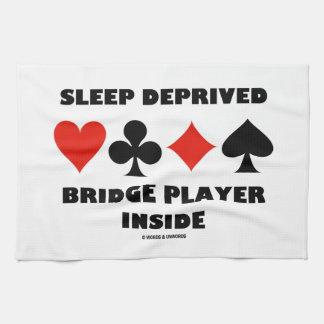 Interior privado sueño del jugador de puente toalla de cocina