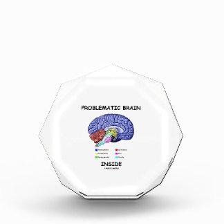Interior problemático del cerebro (anatomía del