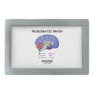 Interior problemático del cerebro (anatomía del hebilla cinturon rectangular