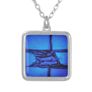 Interior Pulsation Silver Plated Necklace