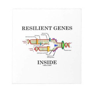 Interior resistente de los genes (réplica de la libreta para notas