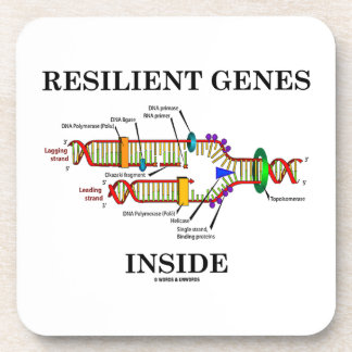 Interior resistente de los genes (réplica de la posavasos