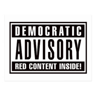 Interior rojo consultivo Democratic del contenido Postal